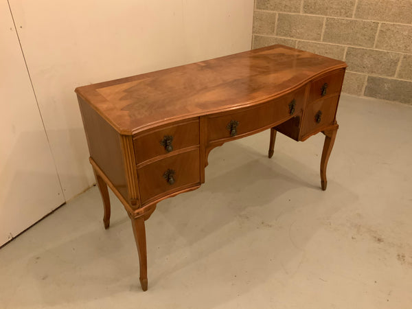 Antique English Walnut Dressing/Writing Table