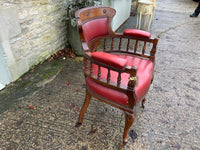 Antique Oak Library Chair