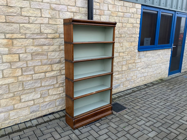 Antique English oak open bookcase