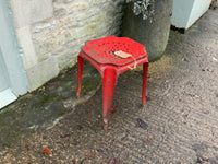 Vintage French Metal Stool