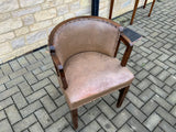 Antique English Leather Side Chair
