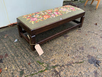 Antique Mahogany Footstool