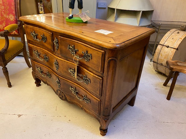 Antique French cherrywood chest