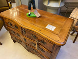 Antique French cherry wood chest