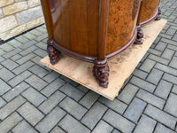 Antique Burr Walnut English Cocktail Cabinet