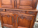 Antique French Carved Oak Cupboard