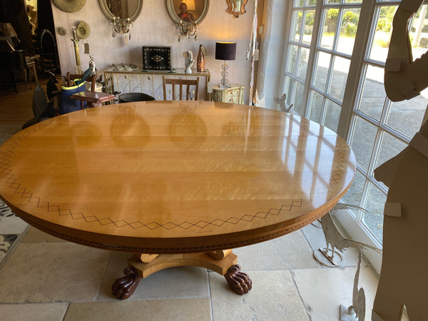 Vintage satinwood round table