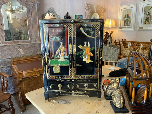 Oriental vintage decorative small cabinet