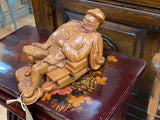 Vintage hardwood carved figure