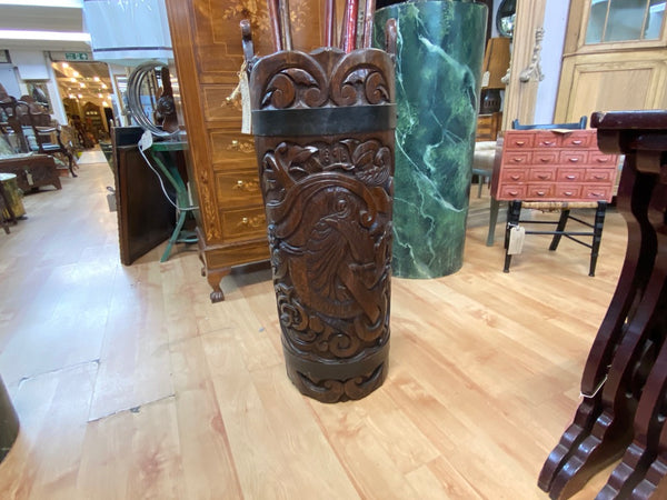 Antique carved stick stand