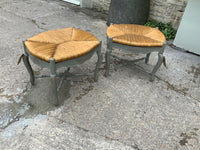 Pair of French vintage stools