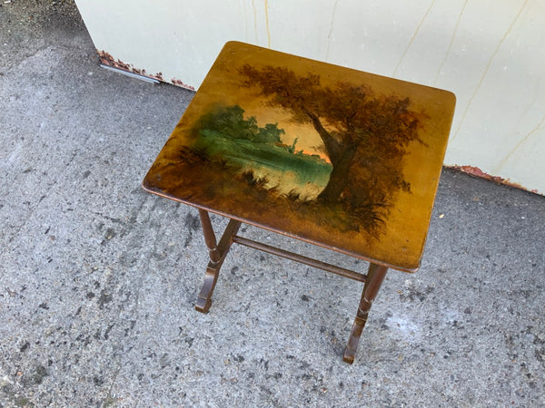 Antique French paper mache side table