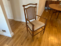Antique faux bamboo sidechair
