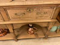 Antique bleached oak dresser