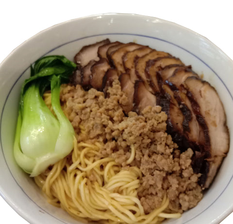 HOMEMADE THIN NOODLES WITH CHAR SIEW