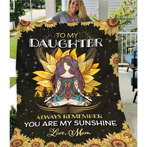 To my daughter (from mom) - Fleece Blanket