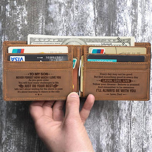 MOM TO SON - DO YOUR BEST - WALLET WITH CLIPPER