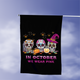 Breast Cancer Awareness 5, Halloween Garden Flag, House Flag