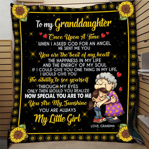 To my Granddaughter - You are the best of my heart - Quilted Blanket