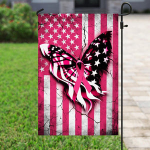 Breast Cancer Awareness 7, Halloween Garden Flag, House Flag