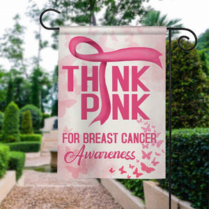 Think Pink, Breast Cancer Awareness Garden Flag, House Flag