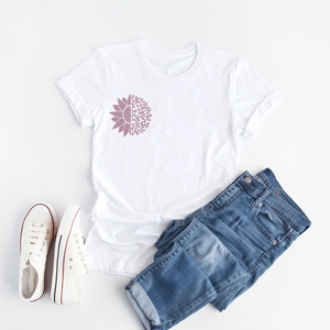 Sunflower Breast Cancer Awareness - T Shirt