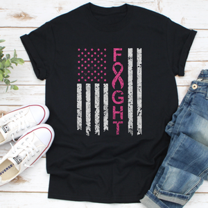 America Fighting Breast Cancer Awareness - T Shirt