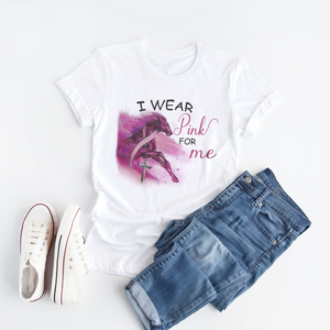 I Wear Pink For Me Horse Ver Breast Cancer Awareness - T Shirt