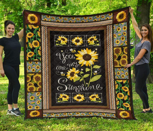 You are my Sunshine - Quilted Blanket