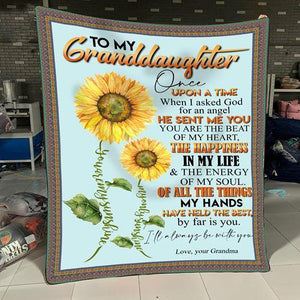 To my grandaughter - I'll always be with you - Quilted Blanket