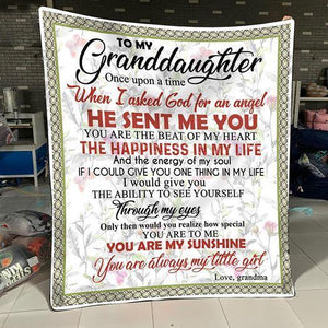 To my Granddaughter - You are my sunshine - Quilted Blanket