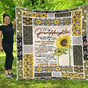 To my Granddaughter - I'll always be there - Quilted Blanket