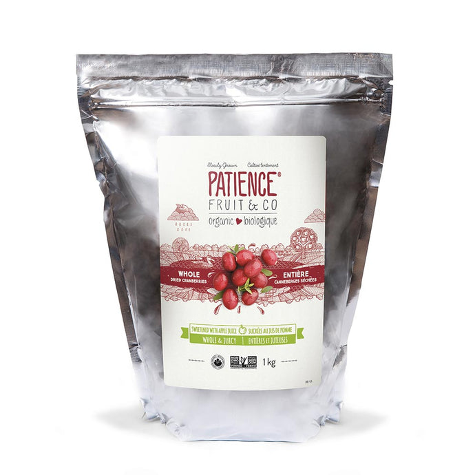 1 kg - Whole & Juicy Dried Cranberries, sweetened with apple juice