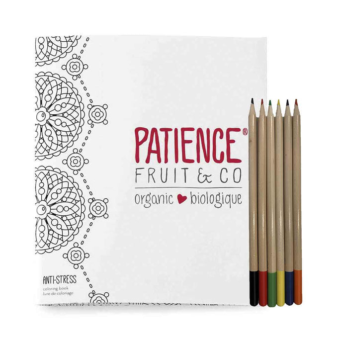 Zen-Coloring-Book-Anti-Stress-Soft-Cover-Journal-Patience-Fruit-Co-pencils