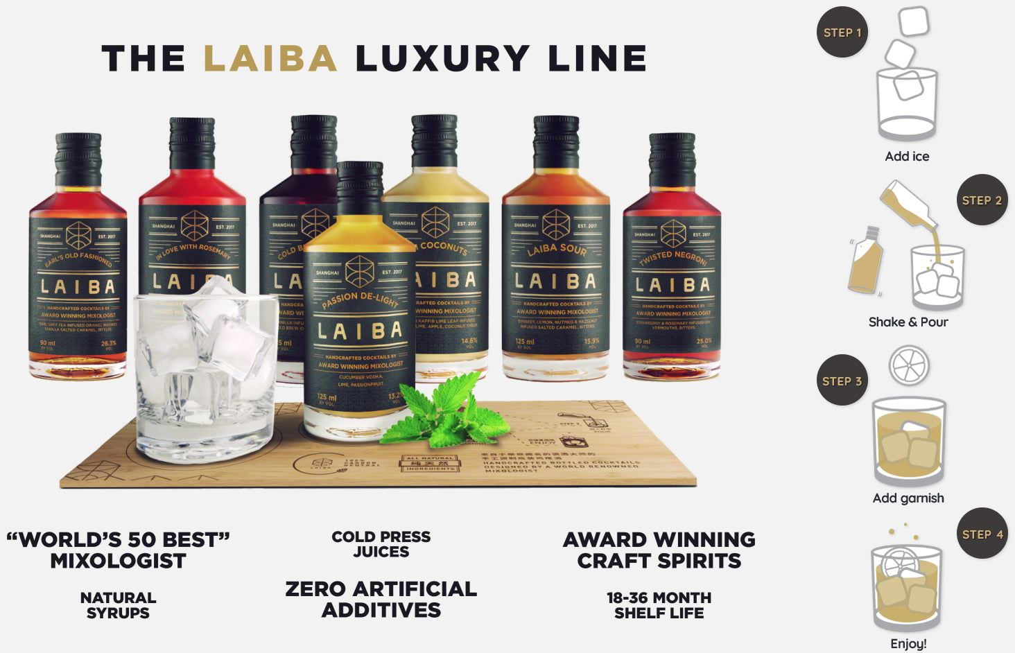 The LAIBA Luxury Line - Serving cocktails at home has never been easier! - LAIBA Singapore