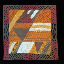 Load image into Gallery viewer, A 1980s ABSTRACT PRINT SILK SCARF BY KEN DONE