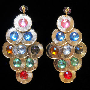 70s DISCO COIN EARRINGS
