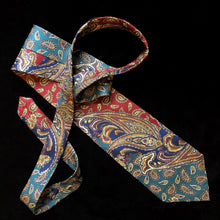 Load image into Gallery viewer, VINTAGE CHRISTIAN DIOR PAISLEY ORNAMENT PRINT TIE