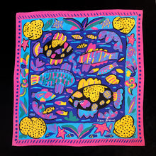 Load image into Gallery viewer, A REEF PRINT 80s SILK SCARF BY KEN DONE