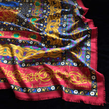 Load image into Gallery viewer, A VINTAGE 80s LARGE WOOL/SILK CHANEL SCARF