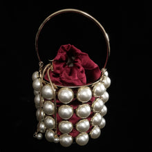 Load image into Gallery viewer, PEARL CAGE BASKET EVENING BAG