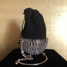 Load image into Gallery viewer, AN UNUSUAL RHINESTONE HALF SPHERICAL EVENING BAG