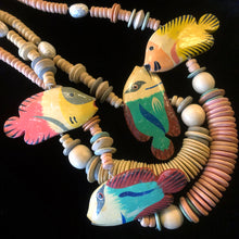 Load image into Gallery viewer, TWO VINTAGE 80s FISH NECKLACES