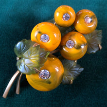 Load image into Gallery viewer, AN UNUSUAL VINTAGE FRUITS BROOCH
