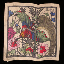 Load image into Gallery viewer, A PURE SILK MARGARET PRESTON ART SCARF
