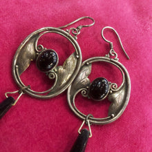 Load image into Gallery viewer, A PAIR OF ART NOUVEAU STYLE EARRINGS