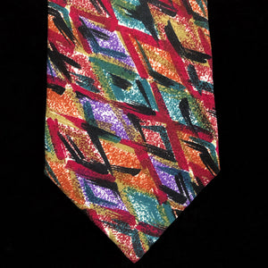 A LATE 80s VINTAGE MISSONI PAINTERLY PRINT SILK TIE