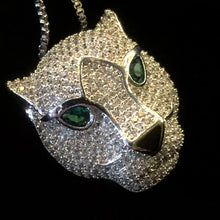 Load image into Gallery viewer, A HIGHLY DETAILED BIG CAT PENDANT AND EARRING SET