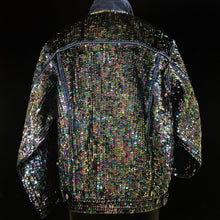 Load image into Gallery viewer, A DARK HELIOTROPE HAND SEQUINNED TARMAFIA JACKET