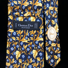 Load image into Gallery viewer, VINTAGE 90s CHRISTIAN DIOR FOLIATE PRINT TIE